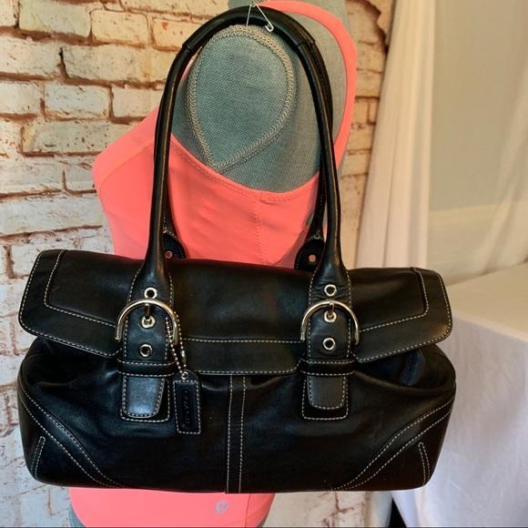 Coach Handbags - Vintage Coach Black Leather Bag
